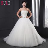 Strapless Beading Sleeveless Belt Wedding Dress (Z-011)