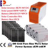 fora do inversor solar híbrido 8000W da grade com o controlador de MPPT para o sistema solar