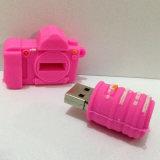 Disco del USB del PVC di figura della macchina fotografica per il regalo di promozione