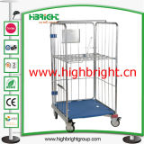 倉庫のためのプラスチック製が付いている取りはずし可能なロール容器のカート