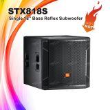 Fornecedor Stx818s de Chinaa caixa de Subwoofer do equipamento do DJ de 18 polegadas