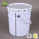 5 secchio stampato della benna della vernice del metallo di gallone 20L con il coperchio e la maniglia del fiore