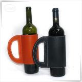De zwarte Bruine Carrier van de Doos van de Wijn van het Leer van Pu voor Gift