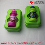 Kids di plastica Outdoor Use Rectangle Lunch Box con Bottle
