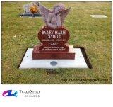 Monument van de Grafsteen van het Graniet van het Hart van de Engel van India het Rode