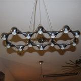 Dekorative 10 LED runde hängende Aluminiumlampe des modernen Hotel-