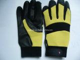 Le cuir de graines en cuir noir de Gant-Vache Gant-Fonctionnent Gant-Industriel Gant-Travaillent le gant