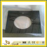 Opgepoetste Absolute Zwarte Countertop van het Graniet van de Parel voor Keuken