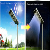 9W All in One Solar Poste LED Jardim Luz com sensor de movimento