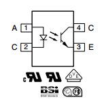 Transistore Sfh6156-3t dell'accoppiatore fotoelettrico dell'uscita (componente elettronico)