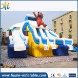 Diapositiva de agua inflable barata popular comercial del oso gigante