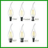 Nueva 360 vela del filamento de la vela E27 LED del filamento del grado 4W LED