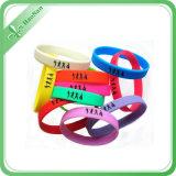 Wristband multicolore del silicone di vario disegno dell'alta qualità