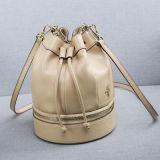 デザイナーバケツはカスタム女性ストリングハンドバッグの革製バッグEmg4722を袋に入れる