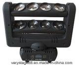 8PC 10W RGBW 4 em 1 diodo emissor de luz Spider Beam Bar Moving Head Light/LED Spider Beam Moving Head