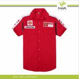 Camisas blancas modificadas para requisitos particulares del equipo de hueco del algodón y del poliester (ky-f004)