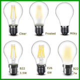 LED 가벼운 A60 8W 230V LED 필라멘트 전구, E26 E27에 의하여 서리로 덥는 LED 전구