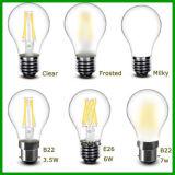 LED軽いA60 8W 230V LEDのフィラメントの球根ライト、E26 E27によって曇らされるLEDの球根