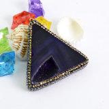 수정같은 삼각형 마노 원석 펜던트