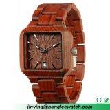 Reloj de madera de la sandalia de la manera del estilo del OEM de la fábrica nuevo