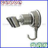 Suporte ajustável cromado do suporte de parede da cabeça de chuveiro com anel do gancho