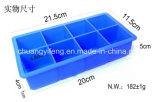 8 клеток придают квадратную форму форменный прессформе подносов кубика льда силиконовой резины