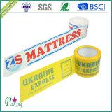 Лента упаковки коробки BOPP акриловая слипчивая с печатание логоса цвета