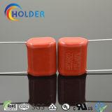 Красный пленочный конденсатор (CBB22 115/400 P=15)