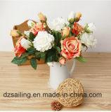 単一の茎のローズの一突きの人工花(SW03335)
