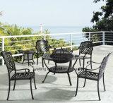 Design Popular Outdoor Garden Furniture Conjunto de alumínio fundido com balde de gelo mesa de churrasco e cadeira (YT917)