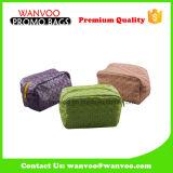 Sac cosmétique de PVC d'Eco de paille molle amicale d'herbe avec la tirette