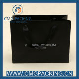 Kundenspezifisches Printing 250g Black Paper Bag für Garment Shopping