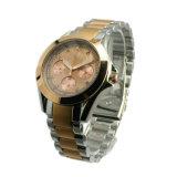 Multifunktionsc$zwei-töne Dame-Edelstahl-Quarz-Uhr Lw-13