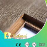 深いUの溝のHDFによって薄板にされる寄木細工の床のフロアーリングを浮彫りに登録しなさい