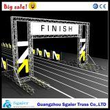 Meta braguero de aluminio, braguero de Poal de la meta del LED, braguero del maratón