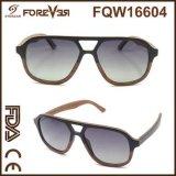 2016 vendas por atacado do projeto novo dos óculos de sol de madeira laminados 400ce UV de madeira da alta qualidade