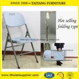 Blanco plástico de la venta al por mayor de la silla de plegamiento de Popualr
