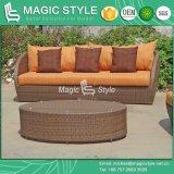 Il sofà di vimini sintetico di Manila del sofà di Viro del sofà del giardino del rattan ha impostato (