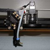 Escritura de la etiqueta del CNC de la cortadora del laser de la cámara del CCD/insignia/cuero/cortador de la representación visual de la tela/del papel