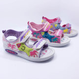 2016 der Qualitäts-Form-Kind-Sandelholz-Mädchen-Sandelholz-Kind-Sandelholz-beiläufige Schuh-Sommer bereift Einspritzung-Schuhe PU-Gummi Llight