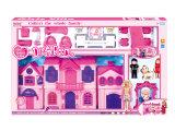 A casa de campo plástica finge o jogo do castelo do jogo ajustado para a menina (H9621013)