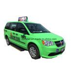 Taxi LED superior que hace publicidad de la pantalla P5 al aire libre