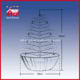 Fram-Supported Base를 가진 눈이 내리는 Christmas Tree LED Lights Decoration