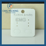 주문을 받아서 만들어진 백색 PVC 귀걸이 전시 카드 (CMG-071)
