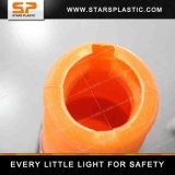 cone do tráfego do PE da base da borracha de 75cm para luzes de advertência do tráfego