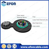 12 câble fibre optique autosuffisant unitaire du mode Figure8 de faisceau (GYXTC8S)