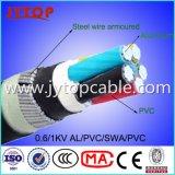 De Kabel van pvc van het aluminium, de Gepantserde Kabel van de Draad van het Staal van de Kabel van SWA