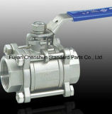 Steel inoxidable 3-PC Weld Ball Valve (316L)