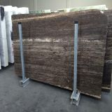 Silbernes Grey Travertine Tiles und Slabs für Floor/Wall