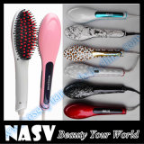 Arrive novo com LCD Display Hair Straightener Brush